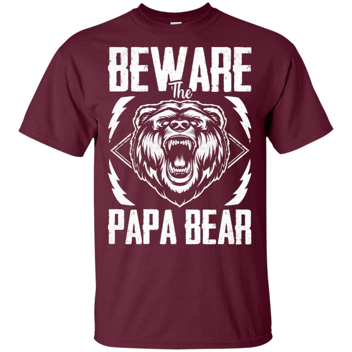 Beware The Papa Bear T Shirt Funny Fathers Day Shirt