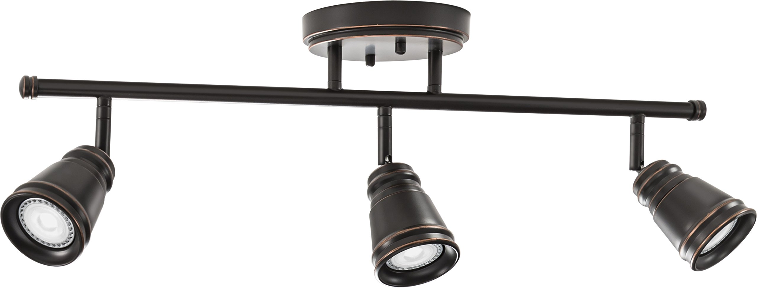 Lithonia Lighting LTFPMILL MR16GU10 LED 27K 3H ORB M4 Led 3 head Peppermill Fixed Track Kit, 21W, Oil-Rubbed Bronze by Lithonia Lighting