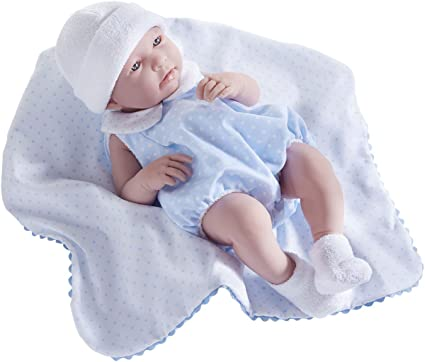Berenguer 17 Inch Real Boy Doll With Blue Layette 18108 La Newborn