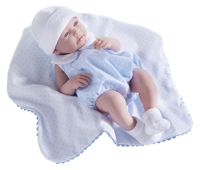 JC Toys, Realistische Mädchen-Baby-Puppe, nach anatomisch korrekten Maßen, 43 cm, Vinyl, Anzug und Decke von Berenguer Boutique entworfen JC Toys Group Inc. 18109