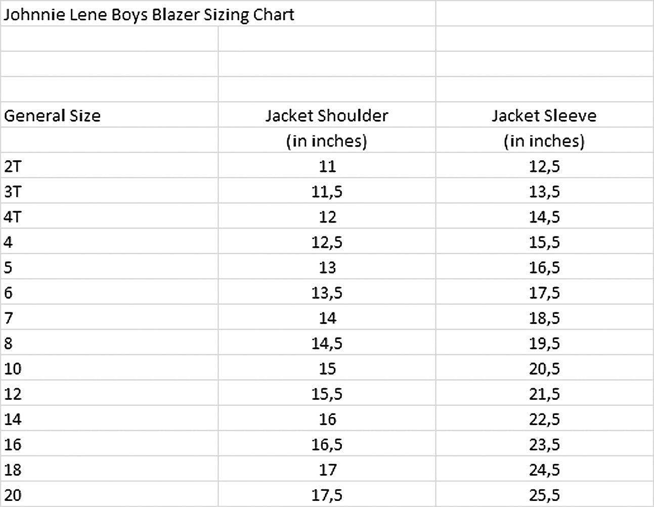 Johnnie Lene Dress Up Boys Blazer Jacket