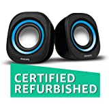 (Certified REFURBISHED) Philips IN-SPA25A/94 Notebook USB Speakers (Blue)