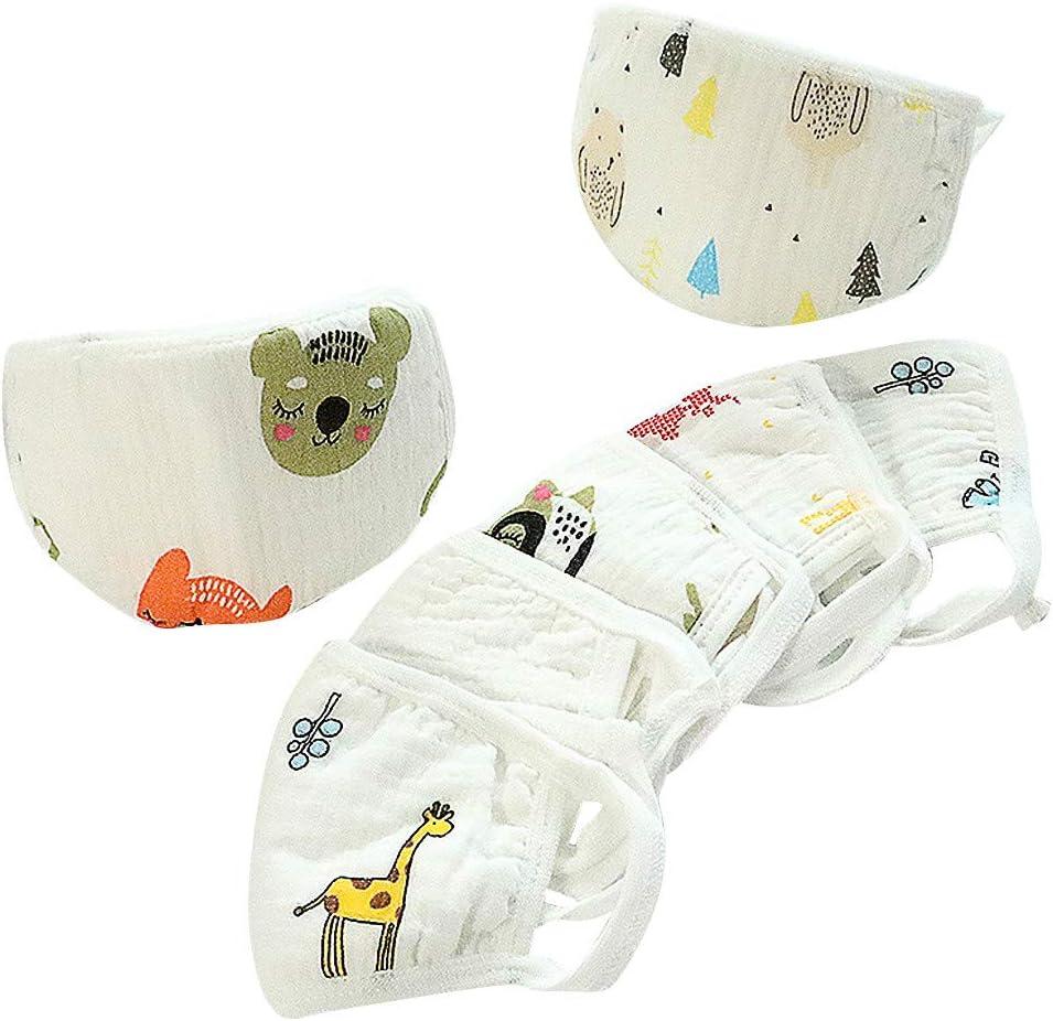 JIekyoi Niños 1-8 años Antipolvo desechable Meltblown paño Impreso protección Infantil protección Facial, Mascarilla, algodón, contra la contaminación - M