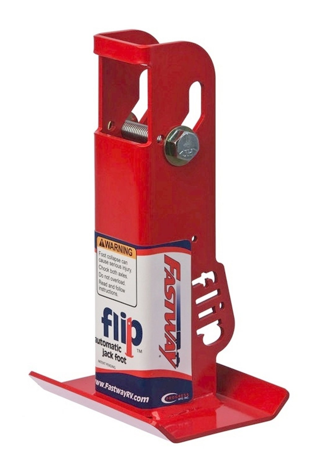 Fastway Flip 88-00-6525 Trailer Tongue Automatic Fold-Up Jack Foot Plate 2'' Jacks-6'' Extension by Fastway