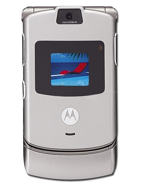 amazon com verizon wireless motorola razr v3m silver cell phones rh amazon com Motorola V3r Software Adams Golf Idea Tech V3R
