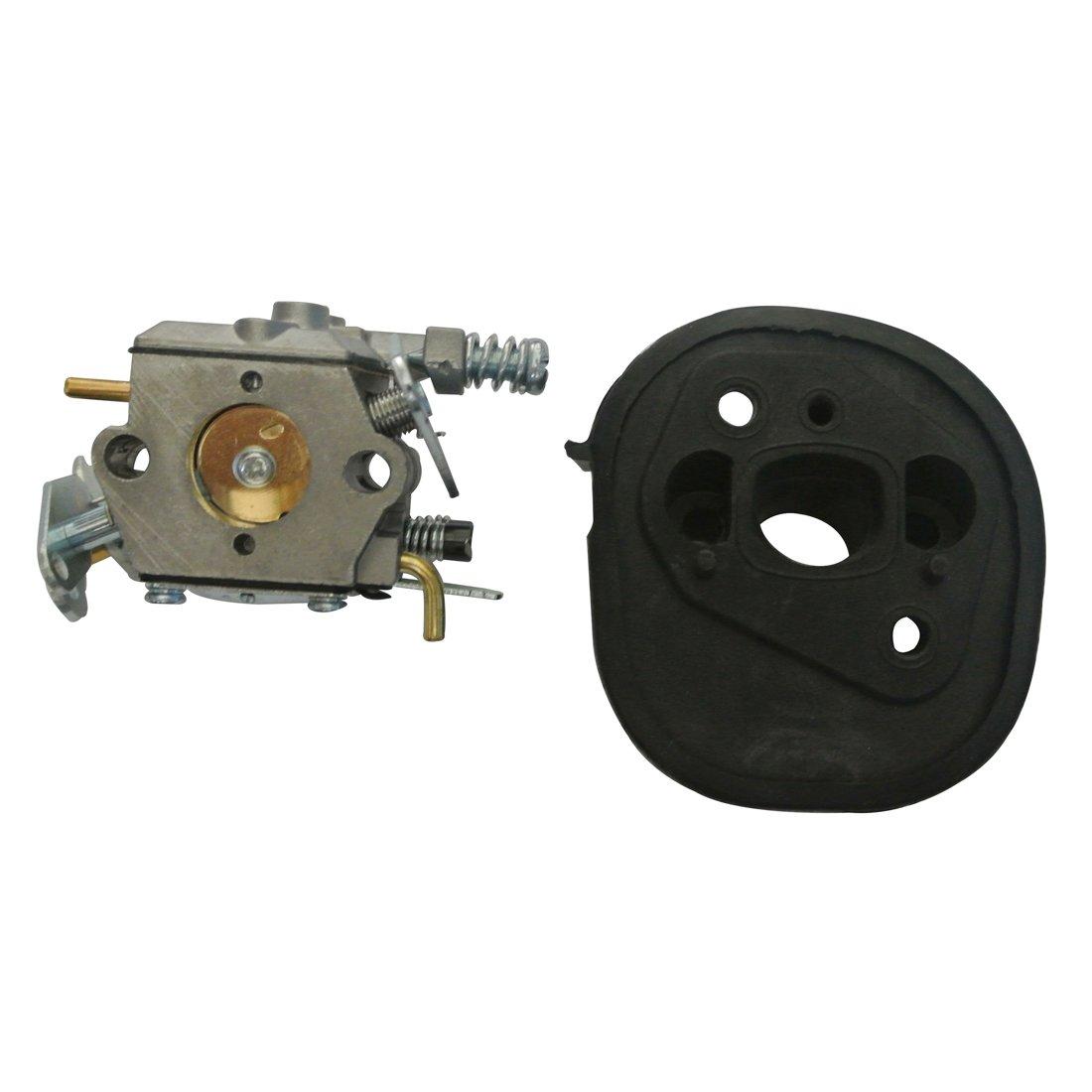 Ruichang Carburador y colector de admisi/ón Aislante Compatible con Partner 350 351 370 371 420 Motosierra