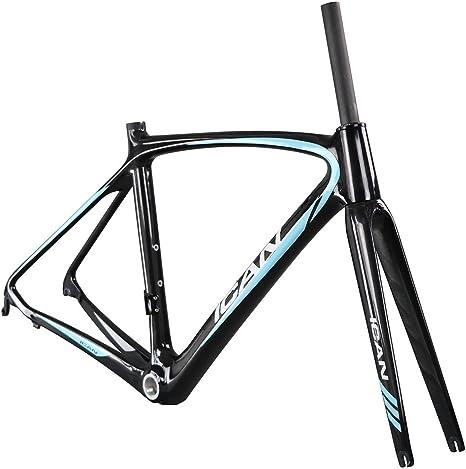 ICAN - Cuadro de bicicleta de carretera con carbono aero con tija ...