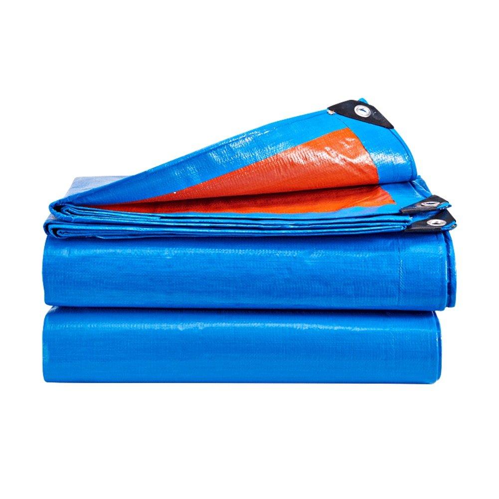 LIXIONG オーニング テント 屋外 トラッククロス 日焼け止め 抗UV 雨をカバーする 断熱 、12サイズ (色 : Orange+blue, サイズ さいず : 7.8x9.8m) 7.8x9.8m Orange+blue B07FYQ3TWK