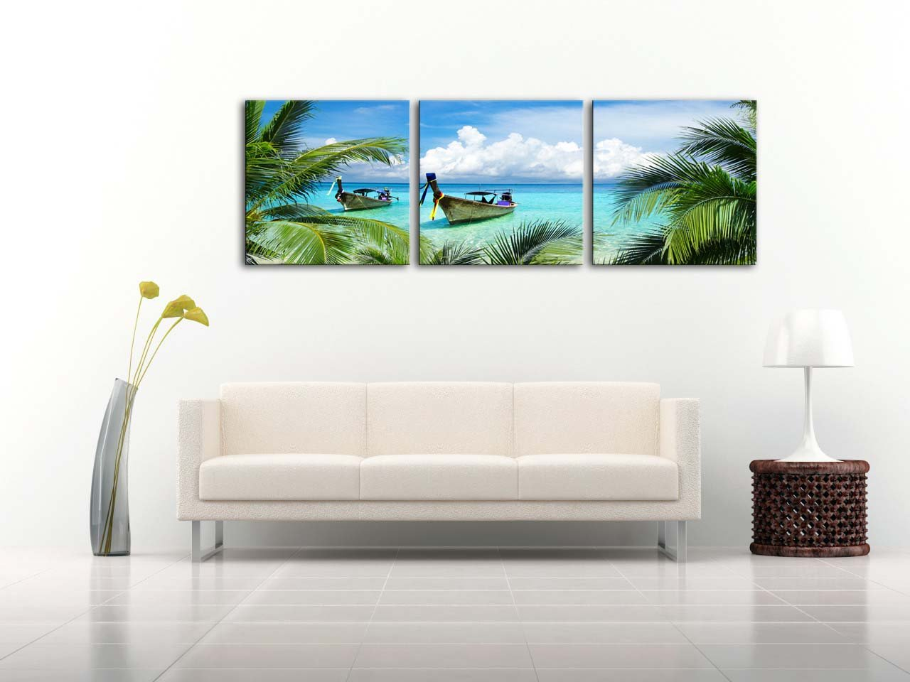 Amazon.com: Canvas Print Wall Art Painting For Home Decor Tropical ...