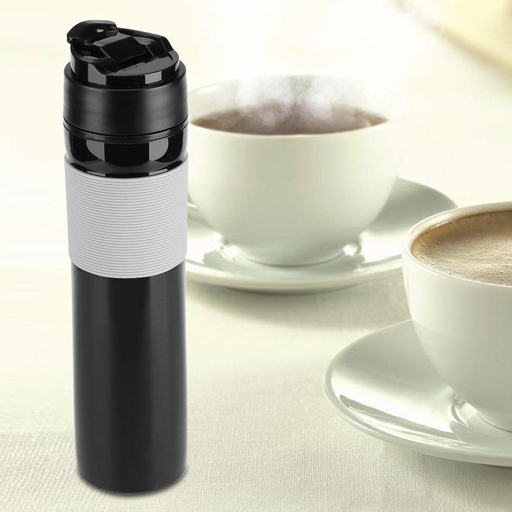 Portable Mini Espresso Maker Hand Held Pressure Caffe Espresso Machine Compact Manual Coffee Maker for Home Office Travel Outdoor(Black) by Fdit (Image #8)