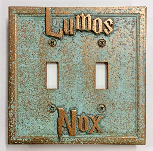 Lumos/Nox Double Light Switch Cover (Patina)