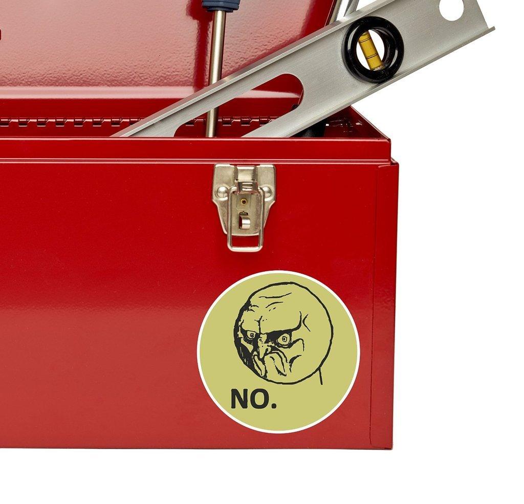 2 x Meme Face Head Vinyl Sticker Laptop Travel Luggage Car #6156