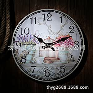 Imoerjia Living Room Wall Clock Table Serves As Old Craft Wall Clock Mute Watches