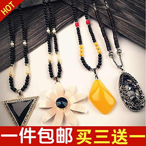 Korean clothes hanging necklace Pendant necklace Pendant sweater chain _owl_ diamond ring garnet crystal ornaments _one_thousand_long