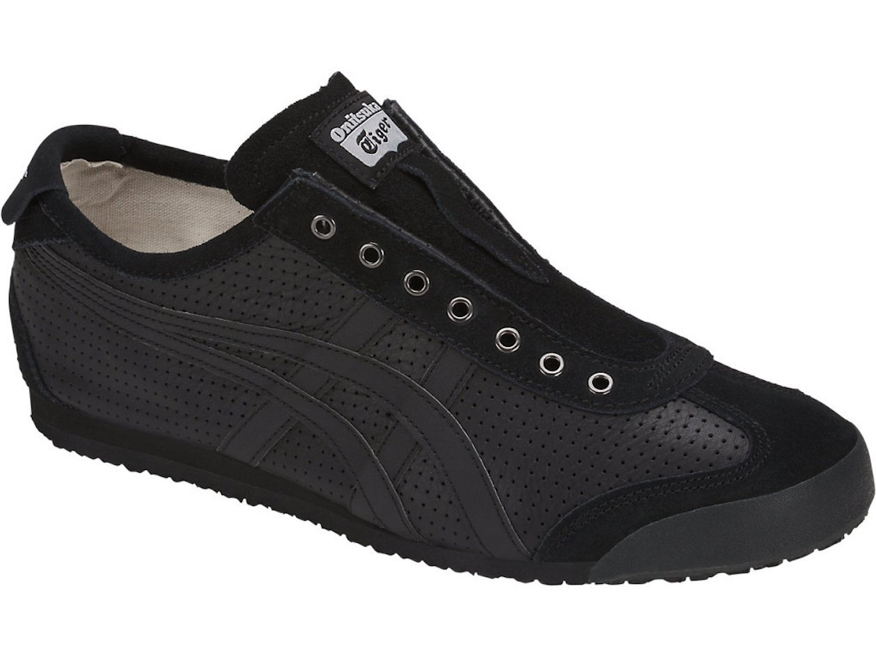 promo code 007ff 3aa6e Onitsuka Tiger Unisex Mexico 66 Slip-On Shoes D815L, Black/Black, 7.5 M US