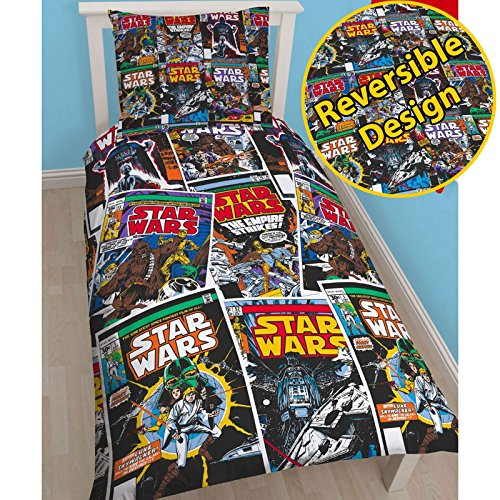 Star Wars Issue Single/US Twin Rotary Duvet Cover + Free Small Foil Caption...