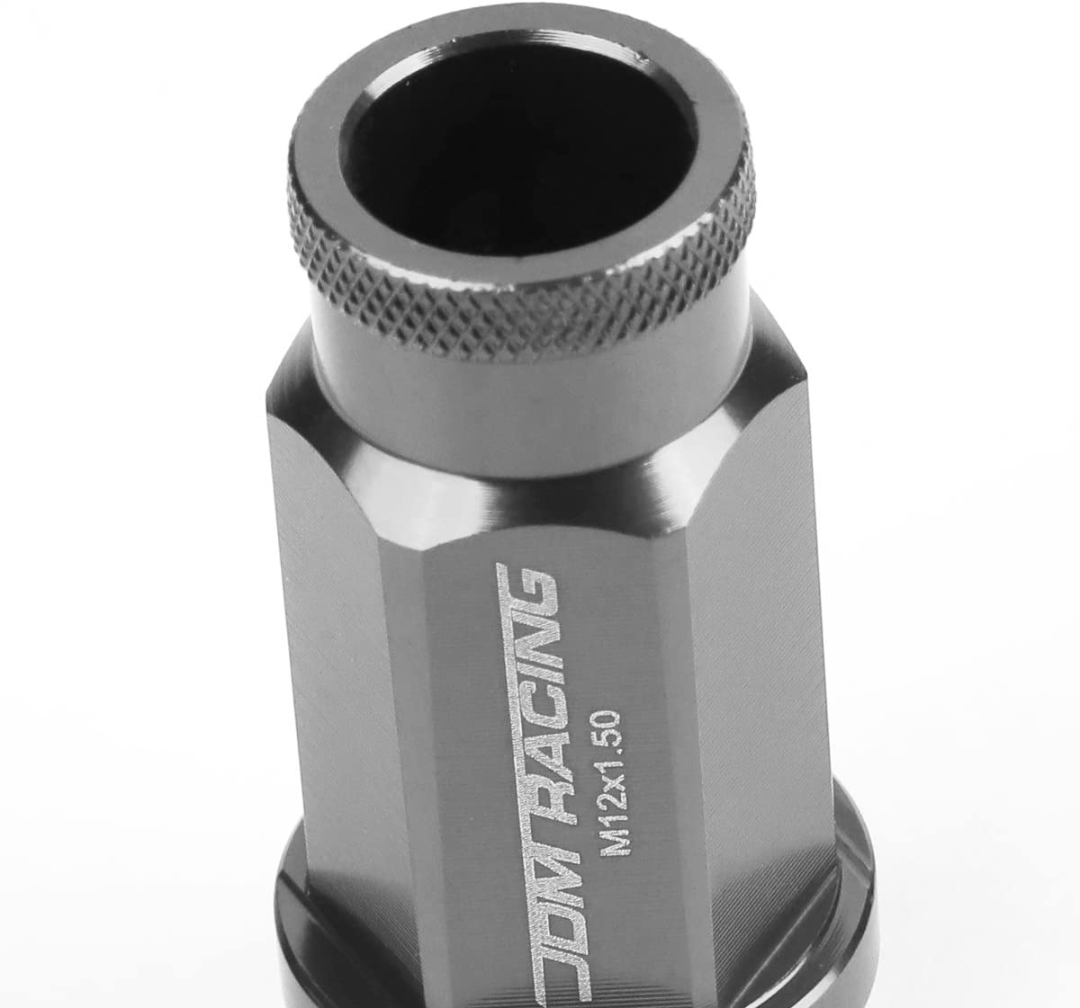 Silver 20-Piece M12 x 1.5 Extended Aluminum Alloy Wheel Lug Nuts+Adapter Key