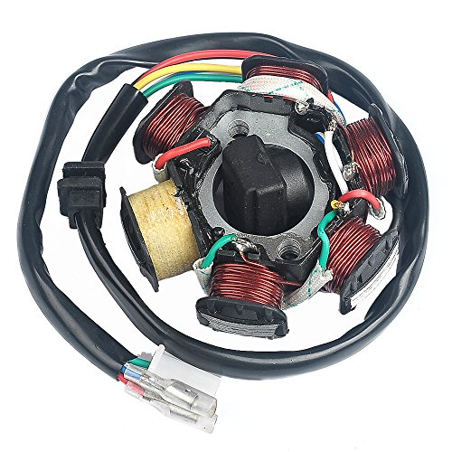 Savior Ignition Stator Magneto AC 6 Pole Coil for GY6 150 150cc Scooter Moped ATV Dune Buggy Go Kart (Ignition Stator)