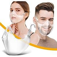 PIASNHAOAH4 1 Piezas 𝐌𝐚𝐬𝐜𝐚𝐫𝐢𝐥𝐥𝐚𝐬 De Montar Transparente Reutilizable PláStico para Adultos con ProteccióN Facial…