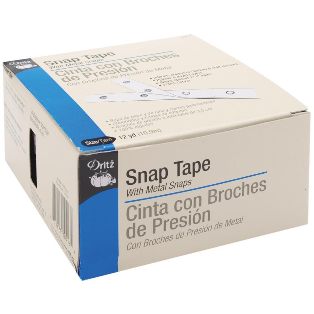 Prym Dritz White Cotton Tape & Snaps - Size 4/0 12yd by Prym Dritz