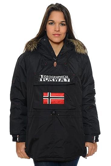 Geographical Norway - Parka de mujer, de color negro: Amazon.es: Ropa y accesorios