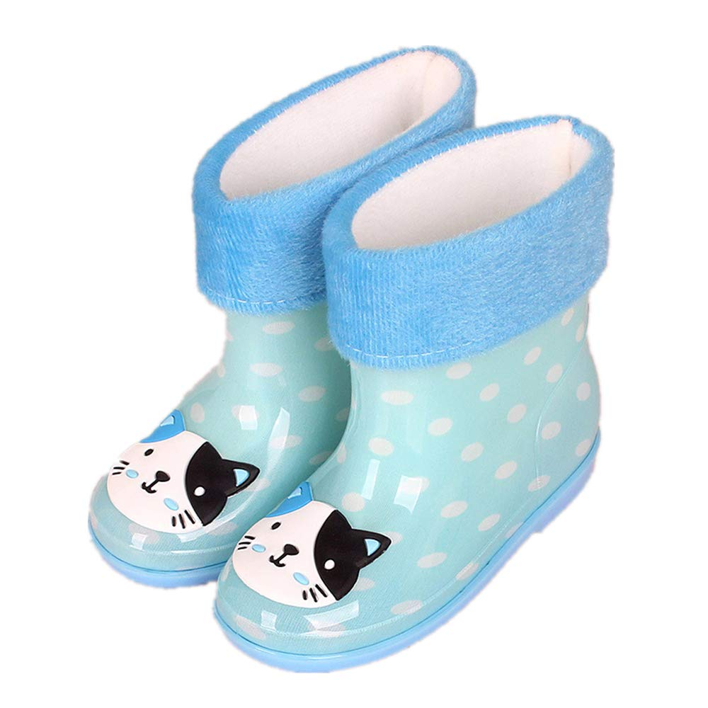 Super color Waterproof Rain Boots Girls /& Boys Toddlers /& Big Kids Solid /& Fun Printed Garden Shoes