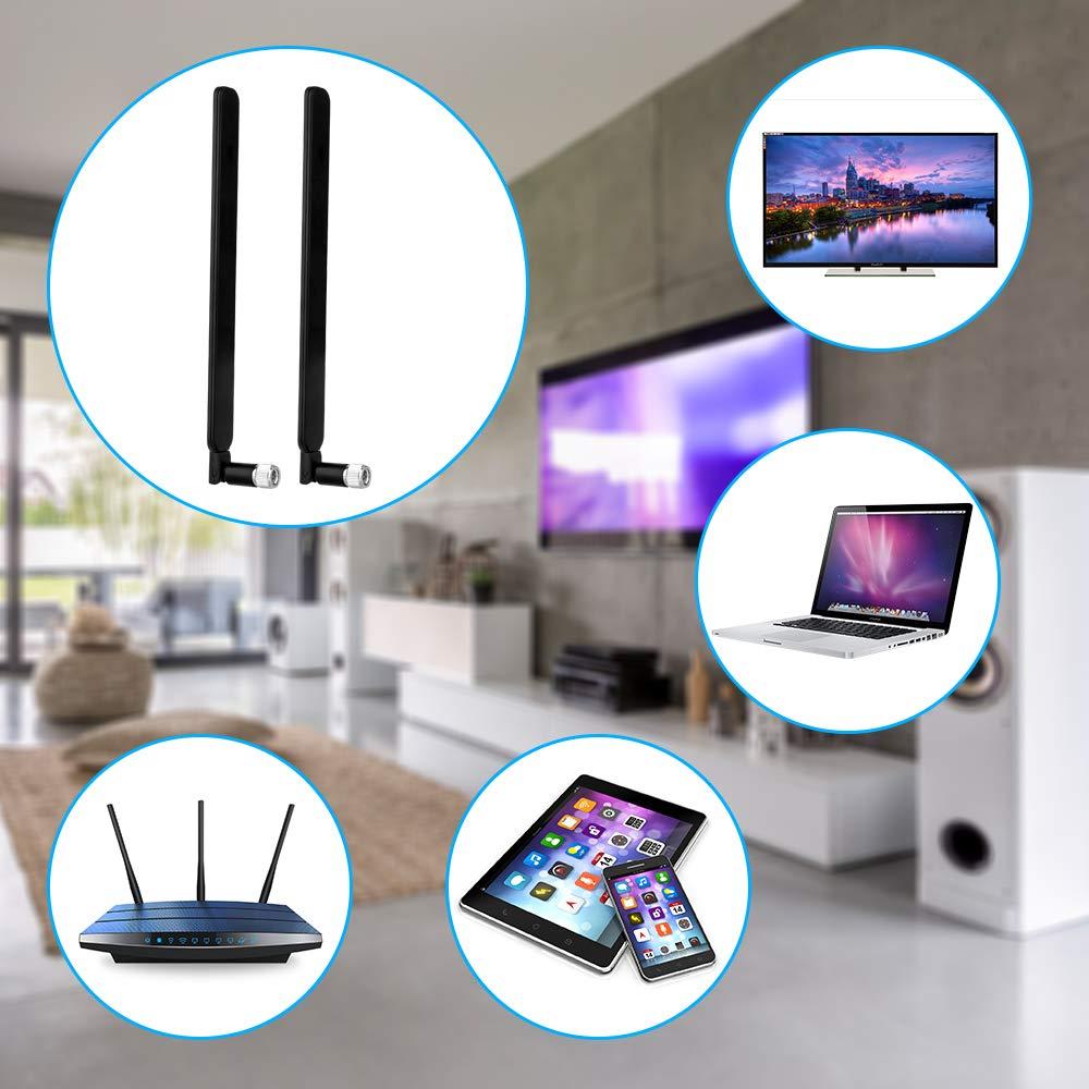 Black Antenna//WLAN stick//Signal Amplifier Wireless LAN SMA 2-Pack WLAN//WiFi SMA 4G Antenna Aigital 10DBI GSM High Gain 4G Dongle LTE WiFi Signal Booster Amplifier Modem Adapter Network Reception Long Range Omni-Direction Antenna