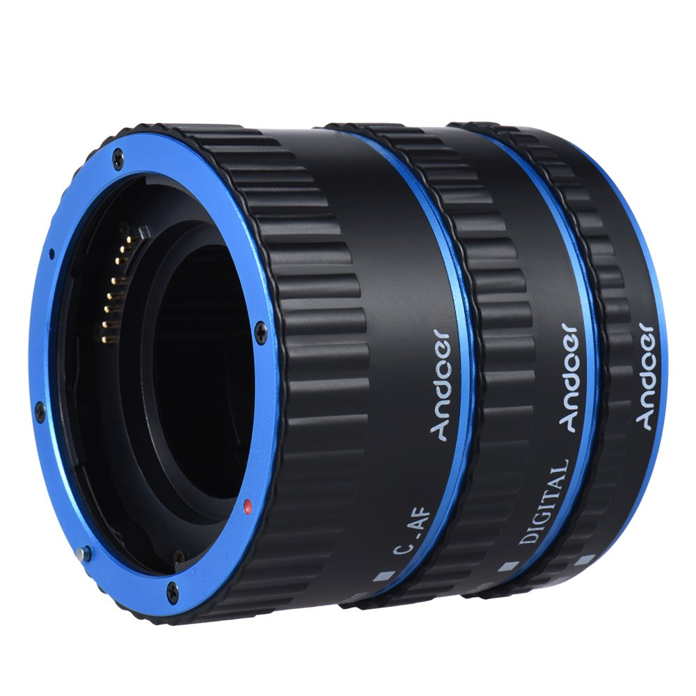 Andoer Metal TTL AF Macro Extension Tube Ring Auto Focus Colorful for Canon EOS EF EF-S 60D 7D 5D II 550D by Andoer