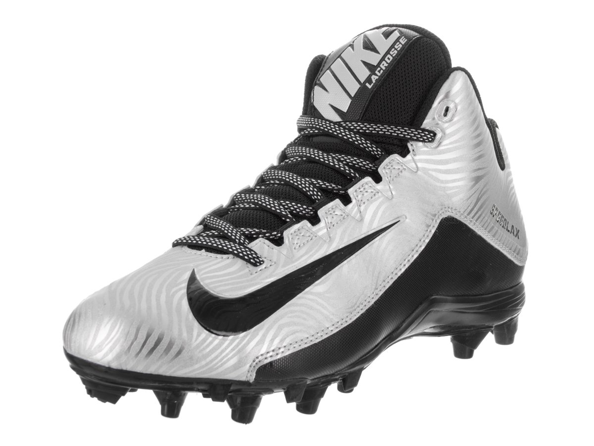 NIKE Men's Speedlax 5 Lacrosse Cleat (9.5 D(M) US, Metallic Silver/Black/Black) by NIKE