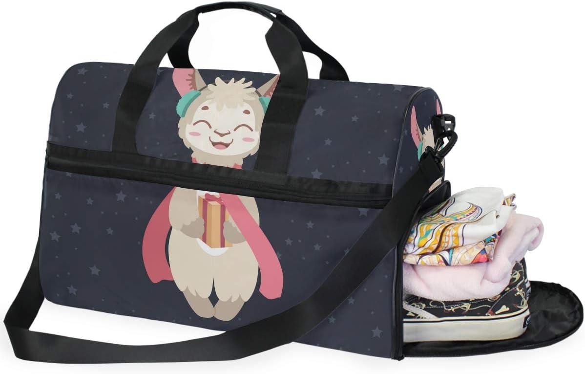 Travel Duffels Happy Llama Duffle Bag Luggage Sports Gym for Women /& Men