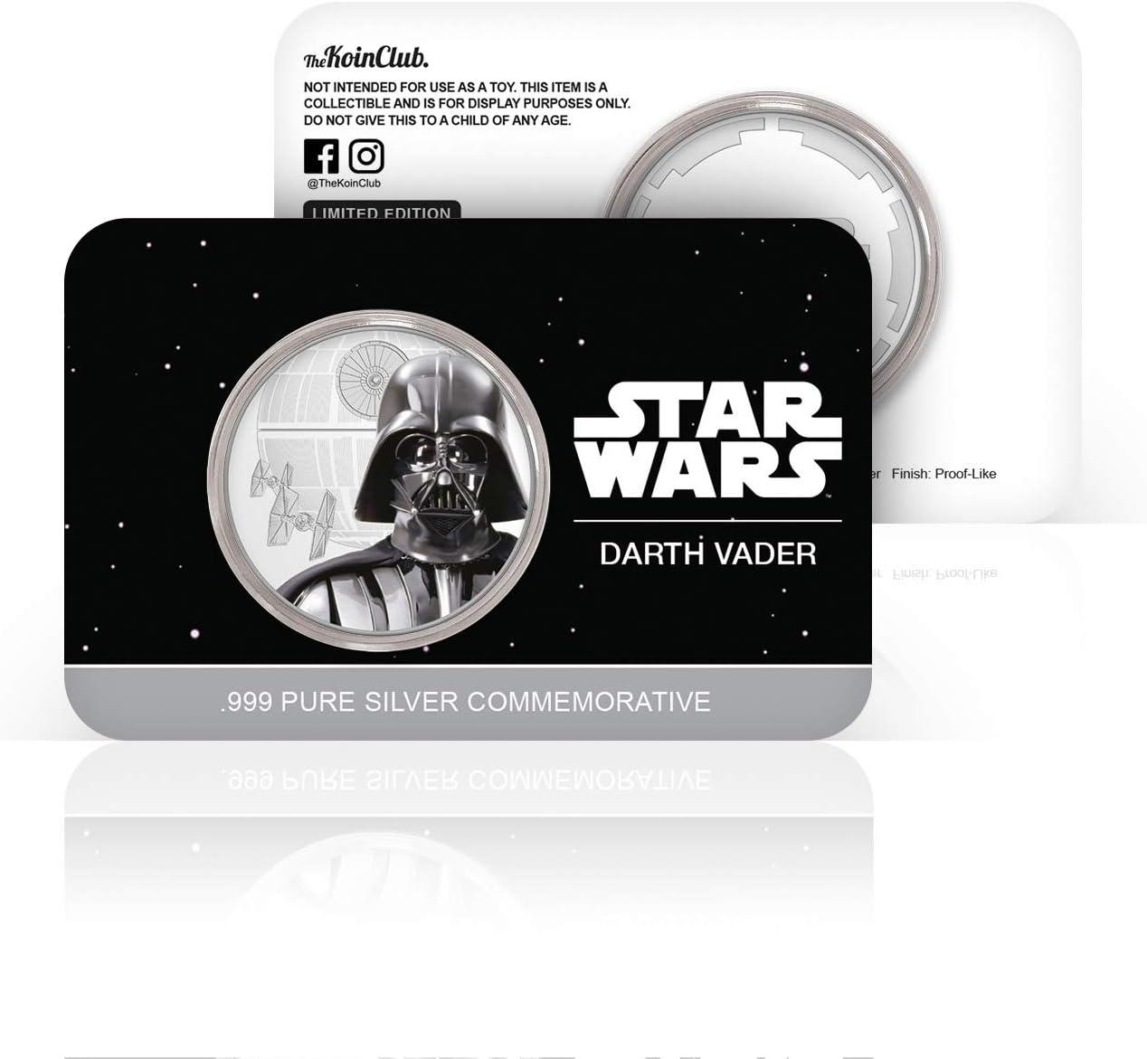 Reines Silber 32mm IMPACTO COLECCIONABLES Offizielle Star Wars-Gedenkm/ünze