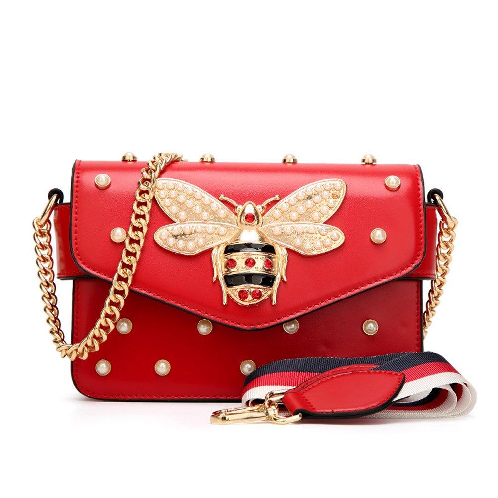 0361de83b1 Luxury Designer Handbag Casual Vintage Little Bee Woman Strap Cross Body  Bags (Black)  Amazon.ca  Shoes   Handbags