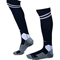 KD Willmax Sports Socks Football Stocking Dry Fast Elite Unisex Knee High Striped Sports Football/Soccer/Hockey Rugby Tube Socks for Men, Women, Boys & Girls