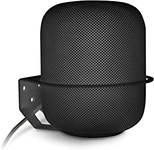 Wall Mount Compatible HomePod, ALLICAVER Sturdy Metal Made Mount Stand Holder Compatible HomePod Smart Speaker. (Black)