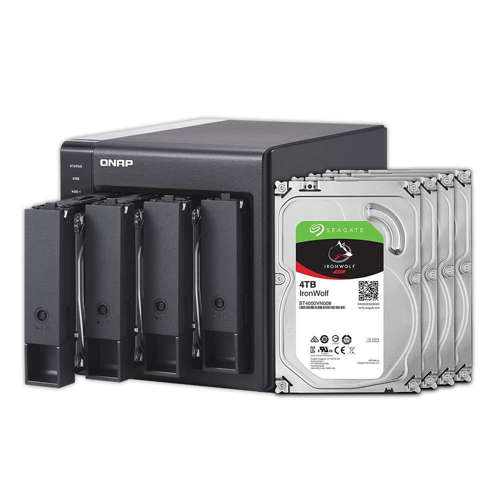 QNAP TR-004 4 Bay Hard Drive Enclosure Direct Attached Storage with hardware RAID USB 3.0 Type-C DAS