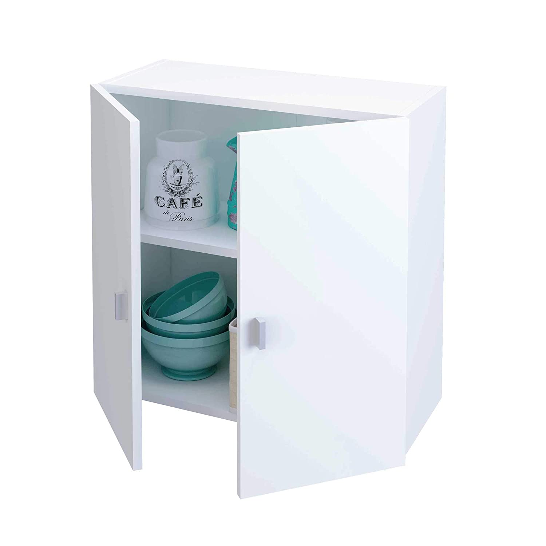 Samblo Armario Bajo de Cocina con 2 Puertas, Blanco, 26.5 x 60 x ...
