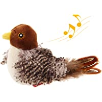 Gigwi Chirping Bird Cat Toy, Interactive Cat Squeak Toy Melody Chaser Bird Toys for Cats to Play Alone, Play N Squeak…