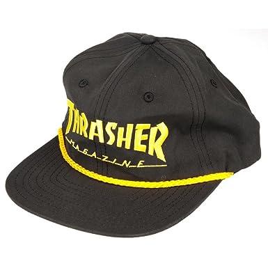 Thrasher Gorra con cierre posterior y cuerda - Negro / Amarillo ...