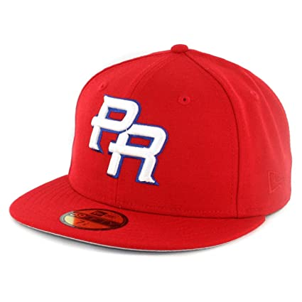 New Era 2017 WBC  quot Puerto Rico quot  PR Fitted Hat Cap Red White 3971a30a390f