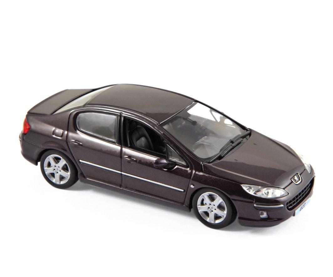 Norev 474706  1 43 Peugeot 407 2006 Montecristo Plum Model Car