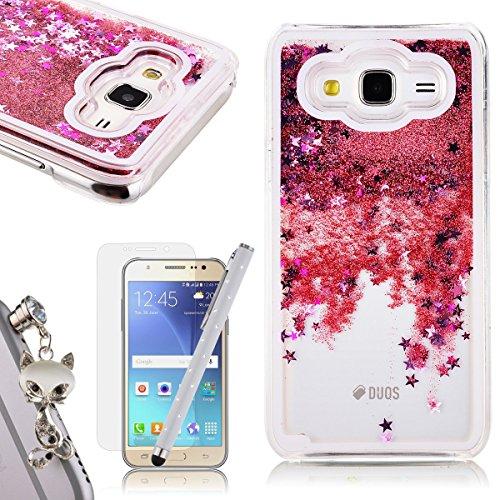 Samsung Galaxy J5 2015 Funda Bling Arena Movediza Lentejuelas , We Love Case 3D Fluido Líquido Quicksand Estrellas Funda para Samsung J5 2015 Carcasa ...