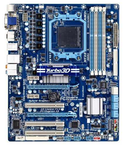 GIGABYTE GA-880GA-UD3H AM3 AMD 880G HDMI SATA 6Gb/s USB 3.0 ATX AMD Motherboard