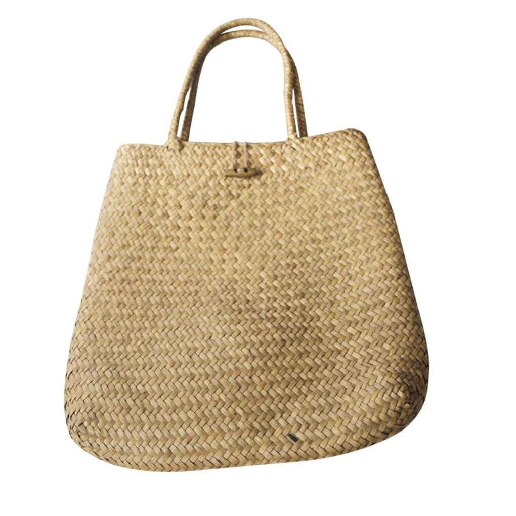 Chilie Women Summer Beach Tote Woven Bag Classic Girl Straw Knitted Shoulder Bag Lady Bohemian Handbag Large Capacity Pouch