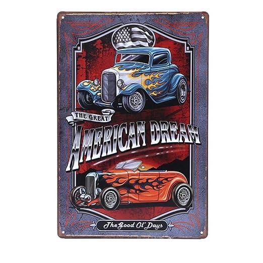 ShAwng Retro Marca Cuba Carteles de automóviles Motel 66 ...