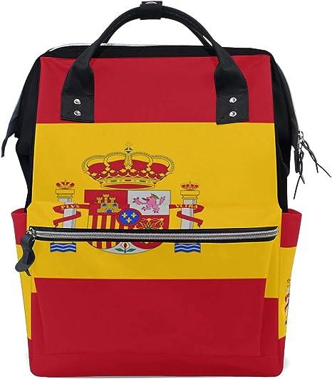 Bandera de España bolsas de mamá bolsa de pañales bolsa de día pañales bolsas para el cuidado del bebé: Amazon.es: Bebé