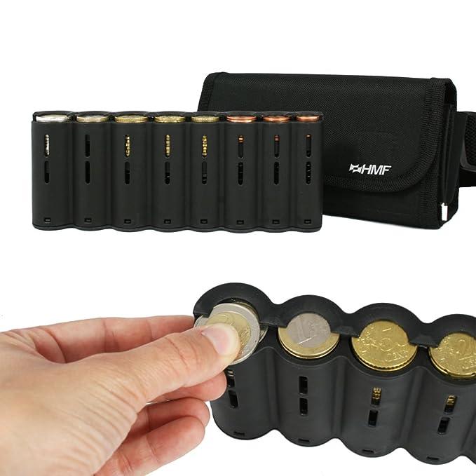 HMF 48810-02 - Bolso de camarero, monedero de camarero, incl. cambiador de monedas para euros y cinturón de transporte de 20,5 cm x 6,5 cm x 10 cm en ...