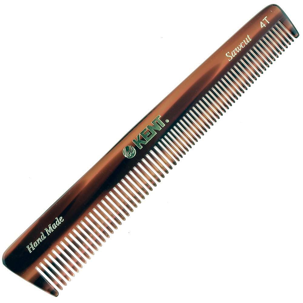 4T Handmade Sawcut Pocket Comb, Coarse/Fine Toothed Comb Kent 880147410708