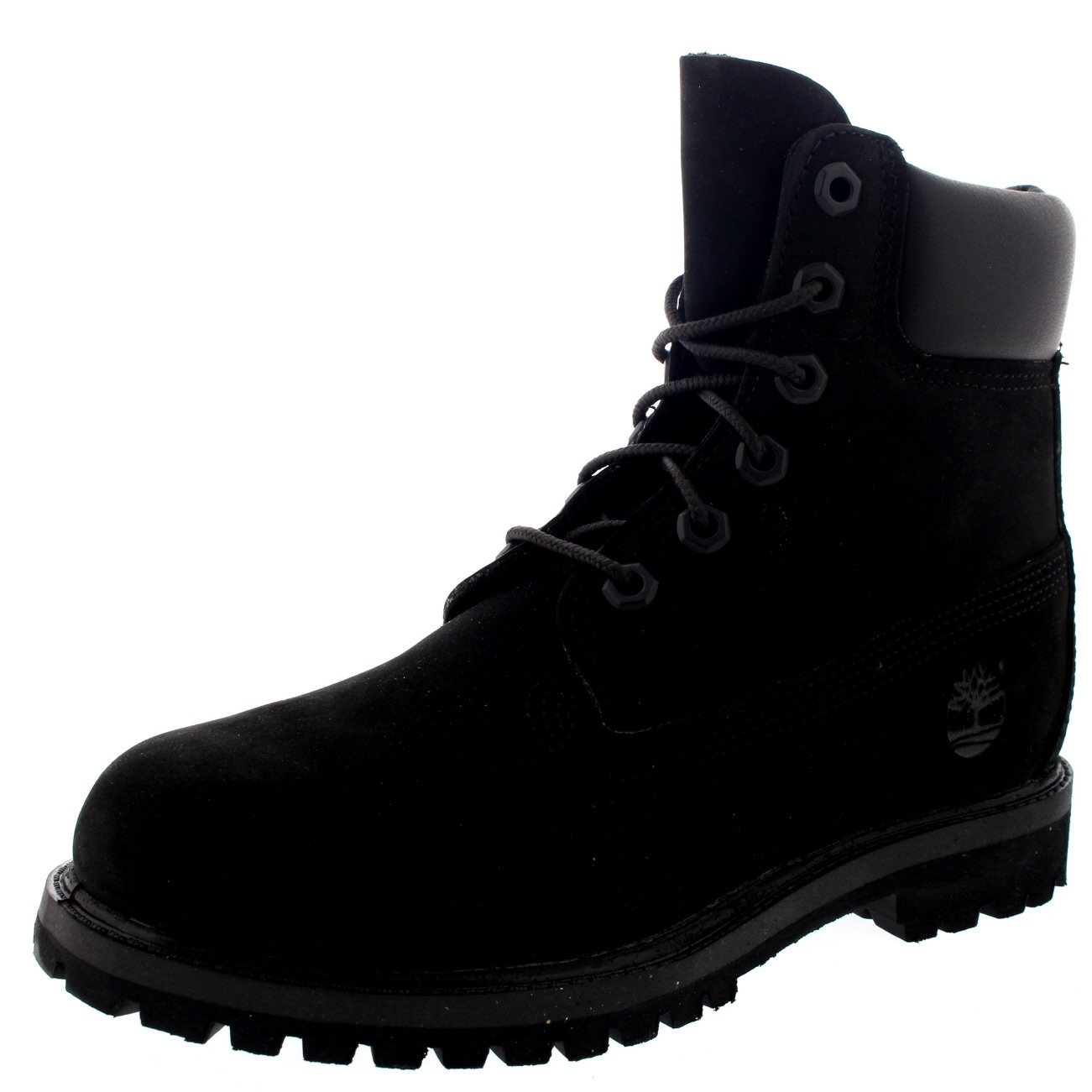 Amazon.com: Womens Timberland 6 Inch Premium Suede Black Lace Up Ankle High Boots - Black - 8: Sports & Outdoors