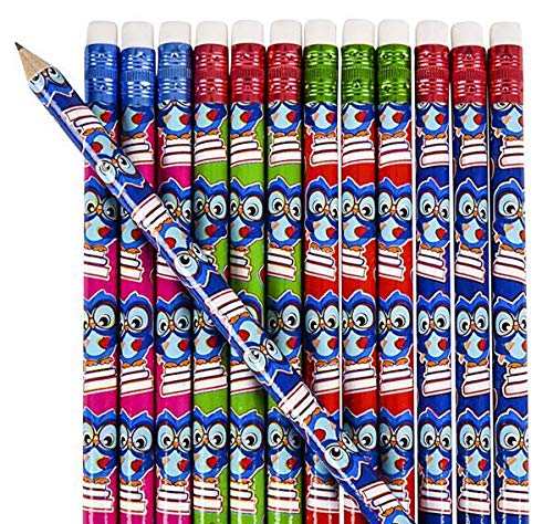 7.5'' OWL Student Pencils, Case of 30 by DollarItemDirect (Image #1)