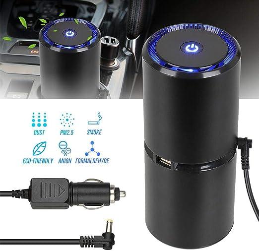 RUNMIND RUNGAO purificador de Aire para Auto, ionizador de Cabina, ambientador, eliminador de Olor, Filtro de oxígeno, Limpiador iónico, USB, Elimina el Humo: Amazon ...